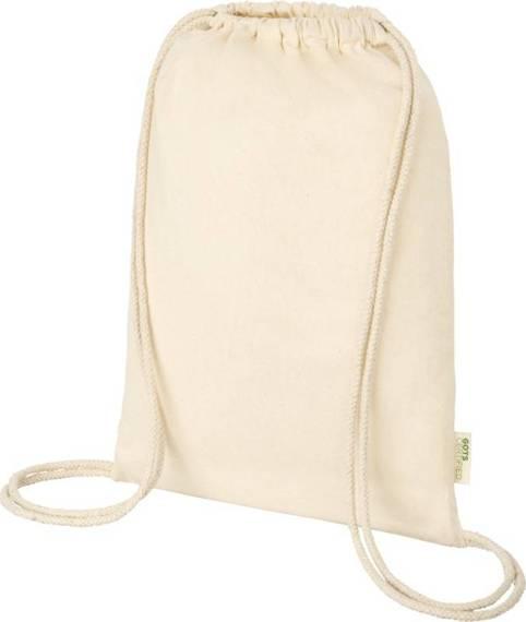 Orissa  plecak ściągany sznurkiem z bawełny organicznej z certyfikatem GOTS o gramaturze 100 g/m²