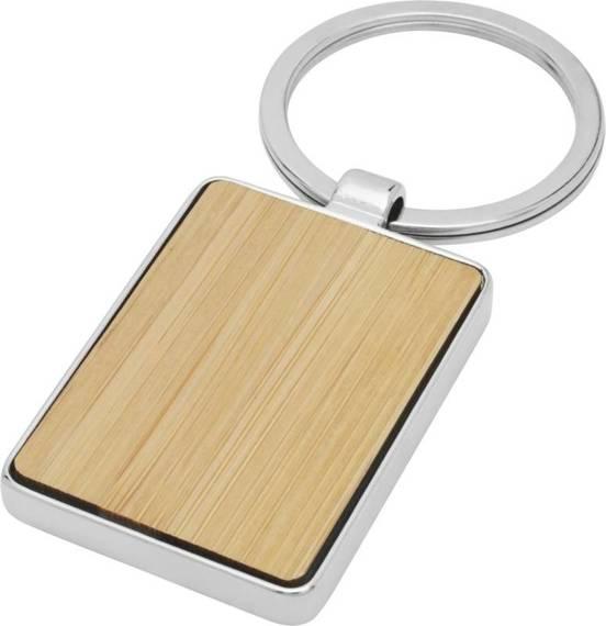 Prostokątny brelok do kluczy Neta z bambusa